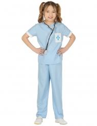Blauw dierenarts kostuum voor meisjes