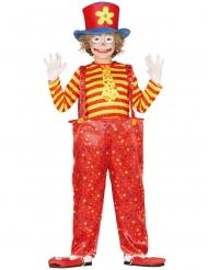 Veelkleurige grappige clown outfit voor jongens
