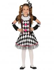 Roze en zwart gekleurd harlekijn kostuum voor meisjes