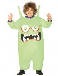 Opblaasbaar groen monster kostuum voor kinderen