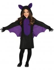 Zwart en paars vleermuis kostuum voor meisjes