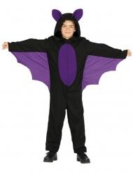 Zwart en paars vleermuis kostuum voor jongens