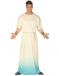 Witte met blauwe Griekse outfit voor heren