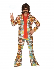 Geometrisch disco retro kostuum voor mannen