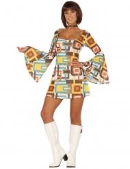 Geometrische patronen disco outfit voor dames