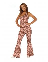 Disco ruiten kostuum voor vrouwen