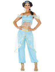 Blauw Oriëntaals prinses kostuum voor vrouwen
