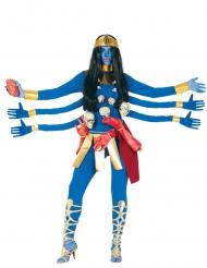Blauwe Hindoeïstische godin kostuum voor vrouwen
