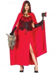 Rood wolf killer kostuum voor vrouwen