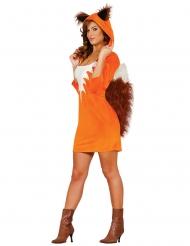 Oranje vos kostuum voor vrouwen