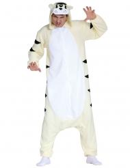 Wit tijger pak kostuum voor volwassenen