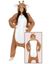 Beige en wit giraffe kostuum voor volwassenen