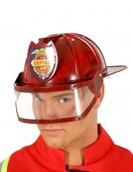 Rode brandweer kapitein helm voor volwassenen