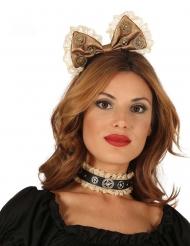 Steampunk strikje haarband voor vrouwen