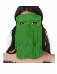 Groen masker met franjes voor volwassenen