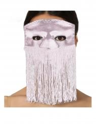 Lichtroze masker met franjes voor volwassenen