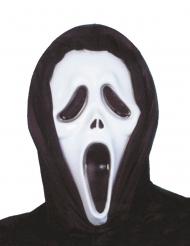Zwart en wit psychopaat killer masker voor volwassenen