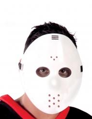 Wit klassiek hockey masker voor volwassenen