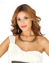 Goudkleurige laurierkrans halsketting voor volwassenen