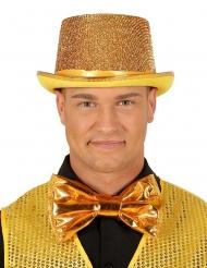 Enorm goudkleurig disco strikje voor volwassenen