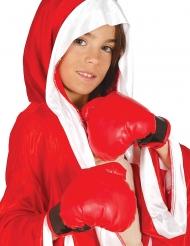Rode bokshandschoenen voor kinderen