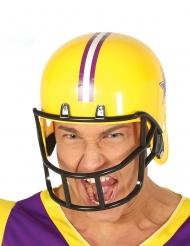 Gele american football helm voor volwassenen