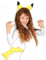 Geel elektrisch monstertje set voor kinderen