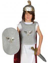 Zilverkleurige Romeinse soldaat set voor kinderen
