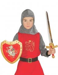 Rode ridder set met schild en zwaard voor kinderen