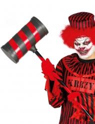 Rode en zwarte killer clown hamer voor volwassenen
