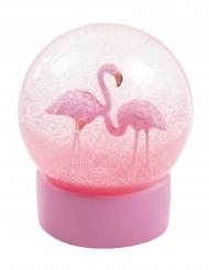 Roze flamingo sneeuwbol