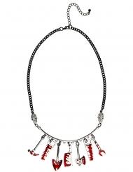 Bloederig gereedschap halsketting voor volwassenen