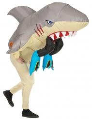 Opblaasbaar haaien aanval kostuum voor volwassenen