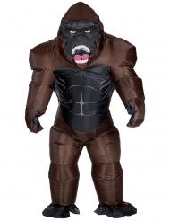 Opblaasbaar gorilla kostuum voor volwassenen