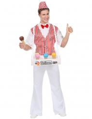 Retro ijsverkoper kostuum voor mannen