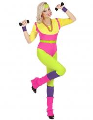 Jaren 80 aerobics kostuum voor vrouwen