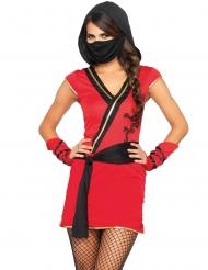 Rood mystiek ninja kostuum voor vrouwen