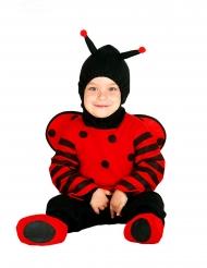 Lieveheersbeestje kostuum met capuchon voor baby