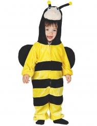 Geel en zwart bij kostuum met capuchon voor baby