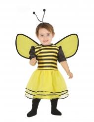 Zwart en geel bijenkostuum met haarband voor baby