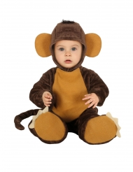 Bruin chimpansee kostuum voor baby