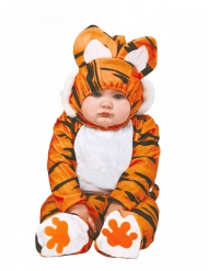 Zwart en oranje tijger kostuum voor baby