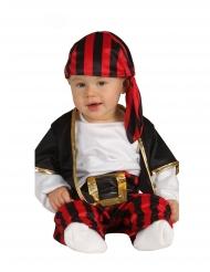 Zwarte en rode piraten rover outfit voor baby