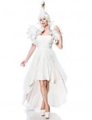 Sexy witte zwaan kostuum voor vrouwen