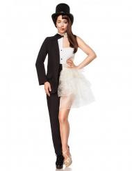 Zwart en wit dubbel kostuum voor volwassenen