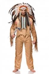 Luxe indiaan stamhoofd kostuum voor mannen