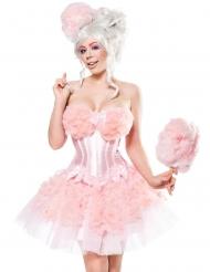 Roze suikerspin outfit voor vrouwen
