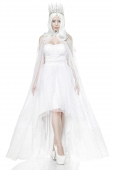 Witte koningin kostuum voor vrouwen