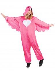Roze flamingo kostuum met capuchon voor dames