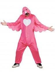 Roze flamingo outfit met capuchon voor mannen